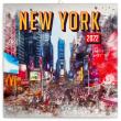 Poznámkový kalendář New York 2022, 30 × 30 cm