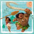 Poznámkový kalendář Odvážná Vaiana: Legenda o konci světa 2018, 30 x 30 cm