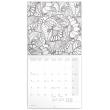 Poznámkový kalendář Omalovánkový kalendář 2019, 30 x 30 cm