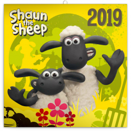 Grid calendar Shaun the Sheep 2019, 30 x 30 cm