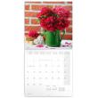 Poznámkový kalendář Pivoňky 2021, 30 × 30 cm