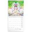 Poznámkový kalendář Plameňáci 2021, 30 × 30 cm