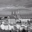 Poznámkový kalendář Praha černobílá 2018, 30 x 30 cm