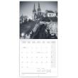 Poznámkový kalendář Praha černobílá 2020, 30 × 30 cm