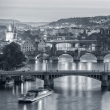 Poznámkový kalendář Praha černobílá 2021, 30 × 30 cm