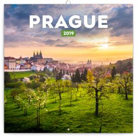 Poznámkový kalendář Praha letní 2019, 30 x 30 cm