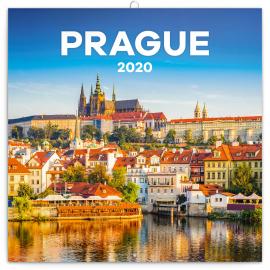 Poznámkový kalendář Praha letní 2020, 30 × 30 cm