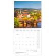 Grid calendar Prague summer 2020, 30 × 30 cm