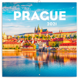 Grid calendar Prague in Summer 2021, 30 × 30 cm