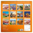 Poznámkový kalendář Praha letní 2021, 30 × 30 cm