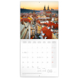 Poznámkový kalendář Praha letní 2022, 30 × 30 cm