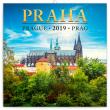 Poznámkový kalendář Praha mini 2019, 18 x 18 cm