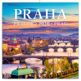 Grid calendar Prague mini 2020, 18 × 18 cm