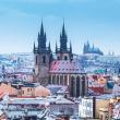 Poznámkový kalendář Praha nostalgická 2019, 30 x 30 cm