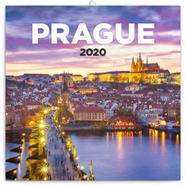 Grid calendar Prague nostalgic 2020, 30 × 30 cm
