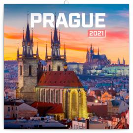 Grid calendar Prague Nostalgic 2021, 30 × 30 cm