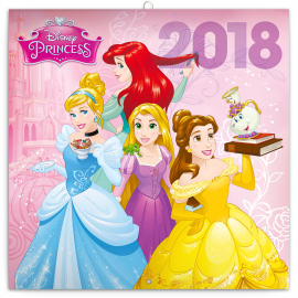 Grid calendar Princess 2018, 30 x 30 cm