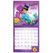 Poznámkový kalendář Princezny 2019, 30 x 30 cm
