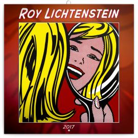 Poznámkový kalendář Roy Lichtenstein 2017, 30 x 30 cm