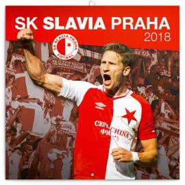 Poznámkový kalendář SK Slavia Praha 2018, 30 x 30 cm