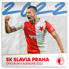Poznámkový kalendář SK Slavia Praha 2022, 30 × 30 cm