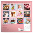 Poznámkový kalendář Sladkosti 2020, 30 × 30 cm