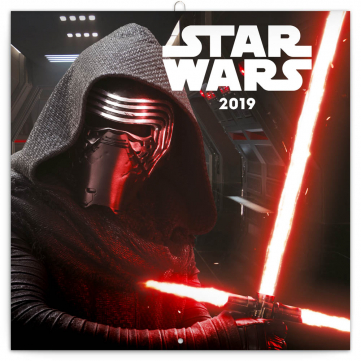 Poznámkový kalendář Star Wars 2019, 30 x 30 cm