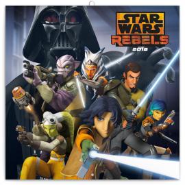 Poznámkový kalendář Star Wars Rebels – Povstalci 2018, 30 x 30 cm