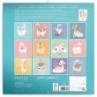 Poznámkový kalendář Šťastné lamy 2021, 30 × 30 cm