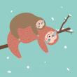 Poznámkový kalendář Šťastní lenochodi 2020, 30 × 30 cm