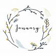 Poznámkový kalendář Styl 2019, 30 x 30 cm