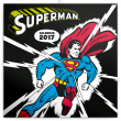 Poznámkový kalendář Superman 2017, 30 x 30 cm