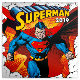 Grid calendar Superman 2019, 30 x 30 cm