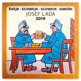 Poznámkový kalendář Švejk – Josef Lada 2019, 30 x 30 cm