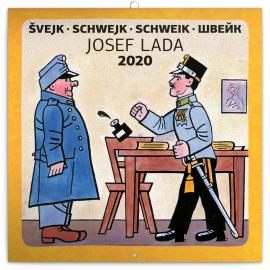 Grid calendar Josef Lada – Schwejk 2020, 30 × 30 cm