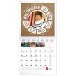 Poznámkový kalendář Teorie velkého třesku 2019, 30 x 30 cm