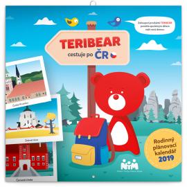 Poznámkový kalendář Teribear 2019, 30 x 30 cm