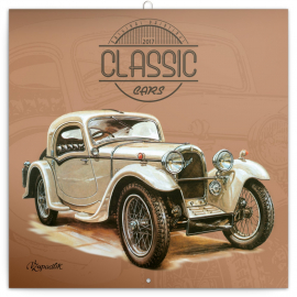 Poznámkový kalendář Václav Zapadlík – Classic Cars 2017, 30 x 30 cm