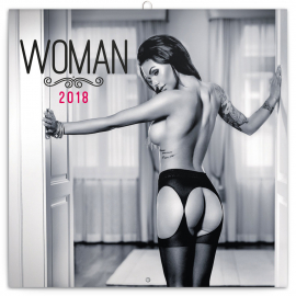 Poznámkový kalendář Woman – Martin Šebesta 2018, 30 x 30 cm