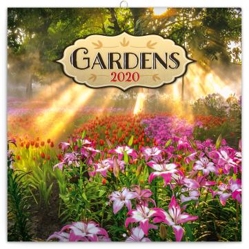 Poznámkový kalendář Zahrady 2020, 30 × 30 cm