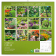 Grid calendar Gardens 2021, 30 × 30 cm