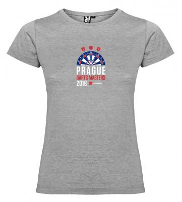 Prague Darts Masters dámské tričko, šedý melír:S