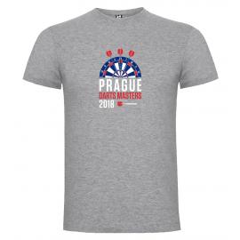 Prague Darts Masters pánské tričko, šedý melír:M