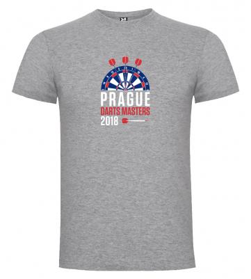 Prague Darts Masters pánské tričko, šedý melír