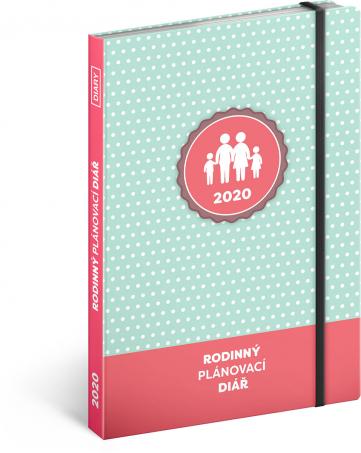 Rodinný diář – pomocník všech maminek 2020, 15 × 21 cm