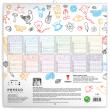 Rodinný kalendář TERIBEAR 2021, 30 × 30 cm