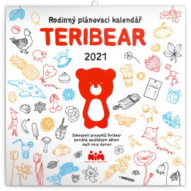 Family calendar TERIBEAR 2021, 30 × 30 cm