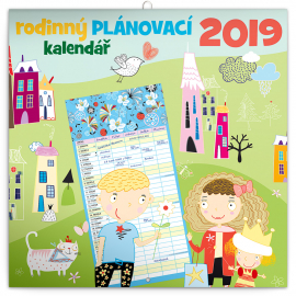Rodinný plánovací kalendář 2019, 30 x 30 cm