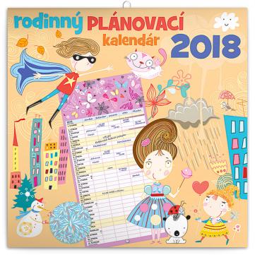 Rodinný plánovací kalendár SK 2018, 30 x 30 cm