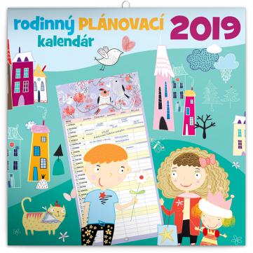 Rodinný plánovací kalendář SK 2019, 30 x 30 cm
